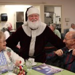 santa, christmas, party, longview wa, longview washington, retirement home, retirement homes