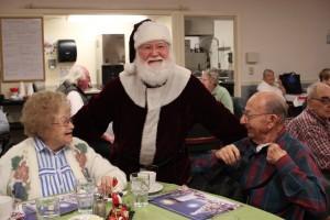 santa, christmas, party, longview wa, longview washington, retirement home, retirement homes