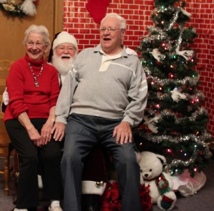 Seniors having fun, christmas party, retirement home, longview wa, longview washington, assisted living