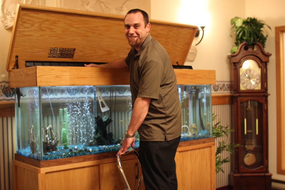 fish tank, retirement home, assisted living