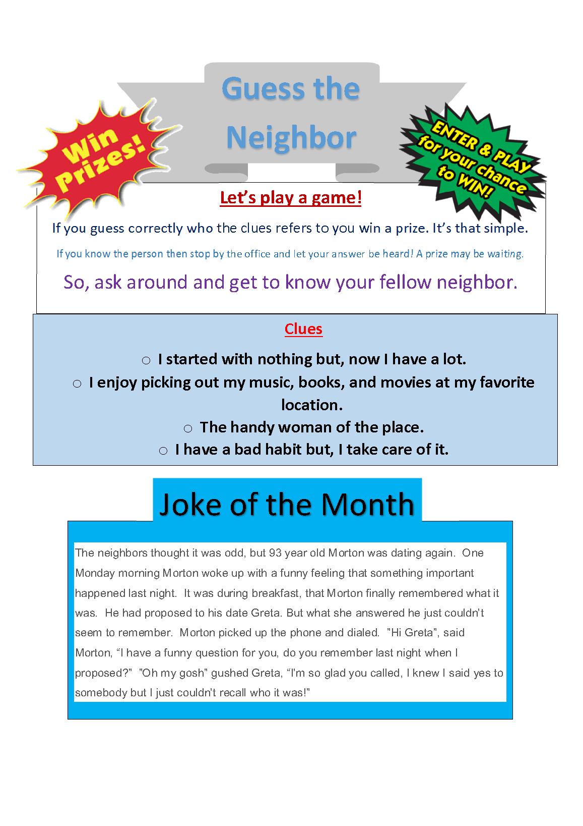 Prize-joke Fedruary