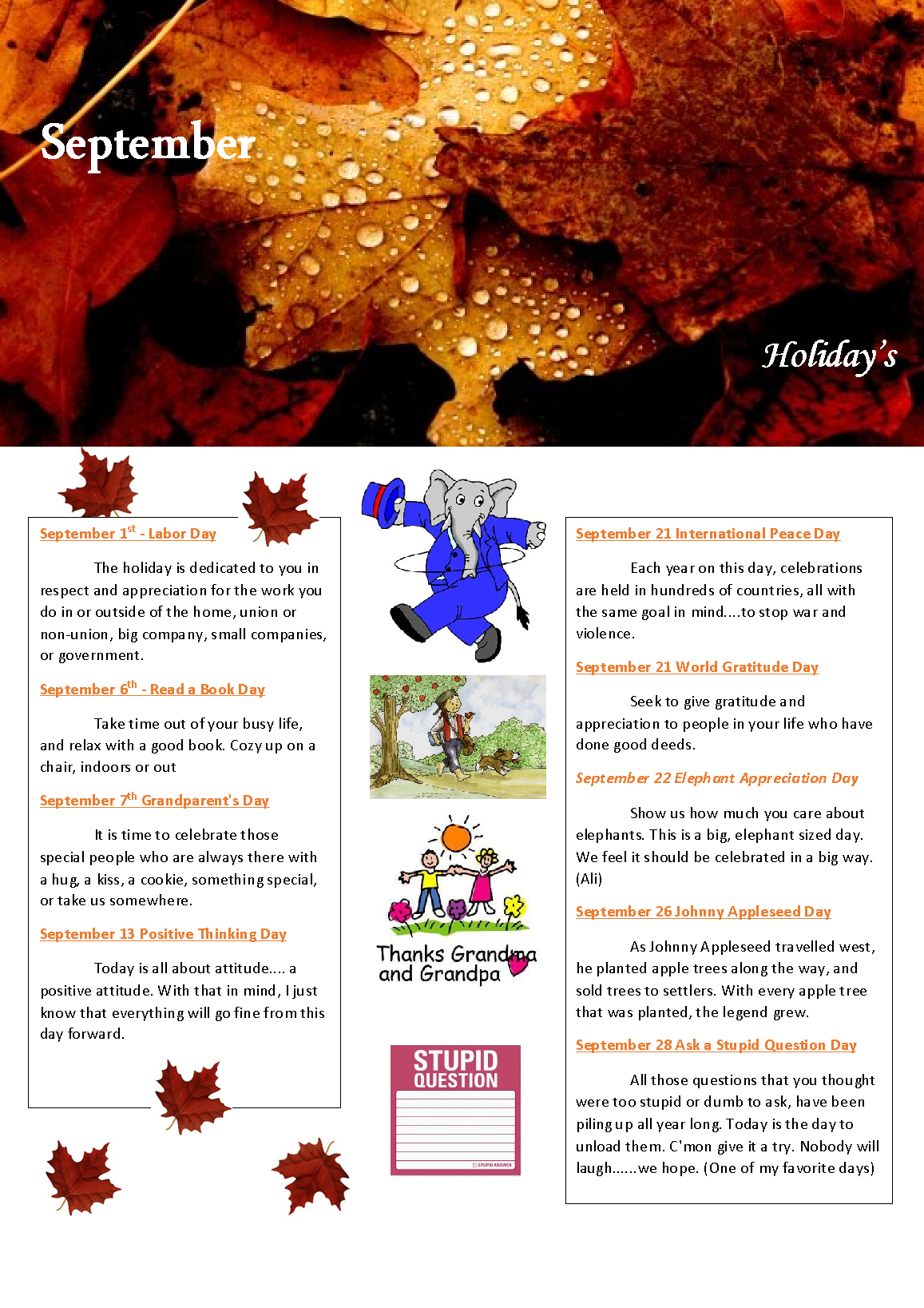 September - Holidays Pg 4