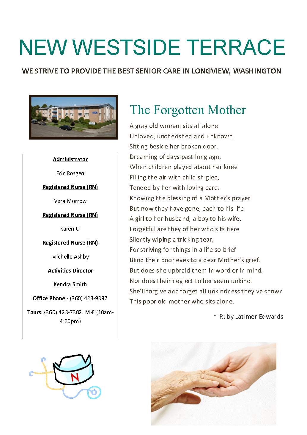 senior news longview wa, senior news longview washington, senior living longview wa, retirement home longview wa